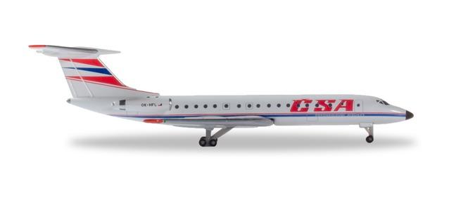 "532945 Tupolev TU-134A ""CSA"", Herpa Wings"