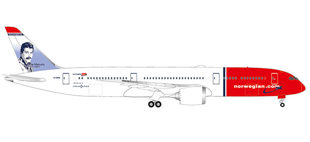 "530170-001 Boeing 787-9 D. ""Norwegian Freddy Mercury"", Herpa Wings"