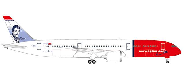 """530170-001 Boeing 787-9 D. """"Norwegian Freddy Mercury"""", Herpa Wings"""