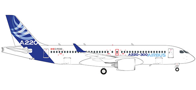 "532822 Airbus A220-300 ""Airbus colors"", Herpa Wings"