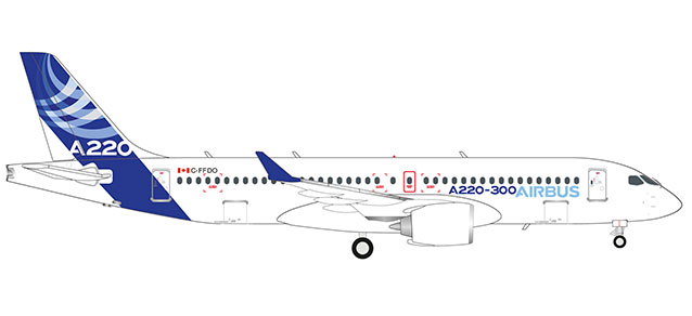 "559515 Airbus A220-300 ""Airbus colors"", Herpa Wings"