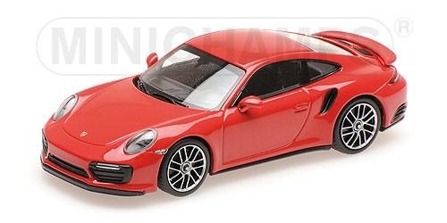 410067170 Porsche 911 Turbo S (991.2) 2017, rood, Minichamps