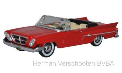 87CC61001 Chrysler 300 Convertible (Open) 1961, rood, Oxford
