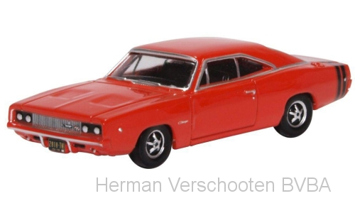 87DC68001 Dodge Charger 1968, rood, Oxford