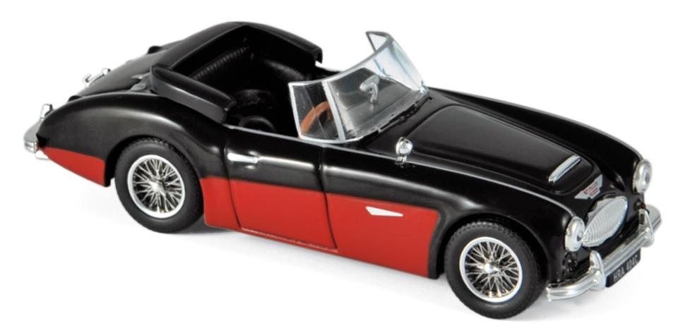 070014 Austin Healey 3000 Mk3 1964, zwart/rood, Norev