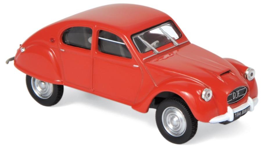 151395 Citroën 2CV Dagonet 1956, rood, Norev