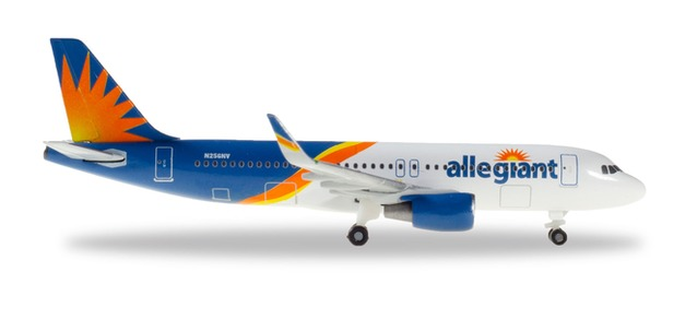 """533140 Airbus A320 """"Allegiant Air"""", Herpa Wings"""