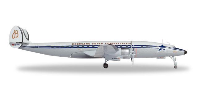 """558488 Lockheed L-1049H S. Constellation """"SCFA/Breitling"""", Herpa Wings"""