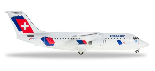 """559638 Avro RJ100 """"Crossair Jumbolino"""", Herpa Wings"""