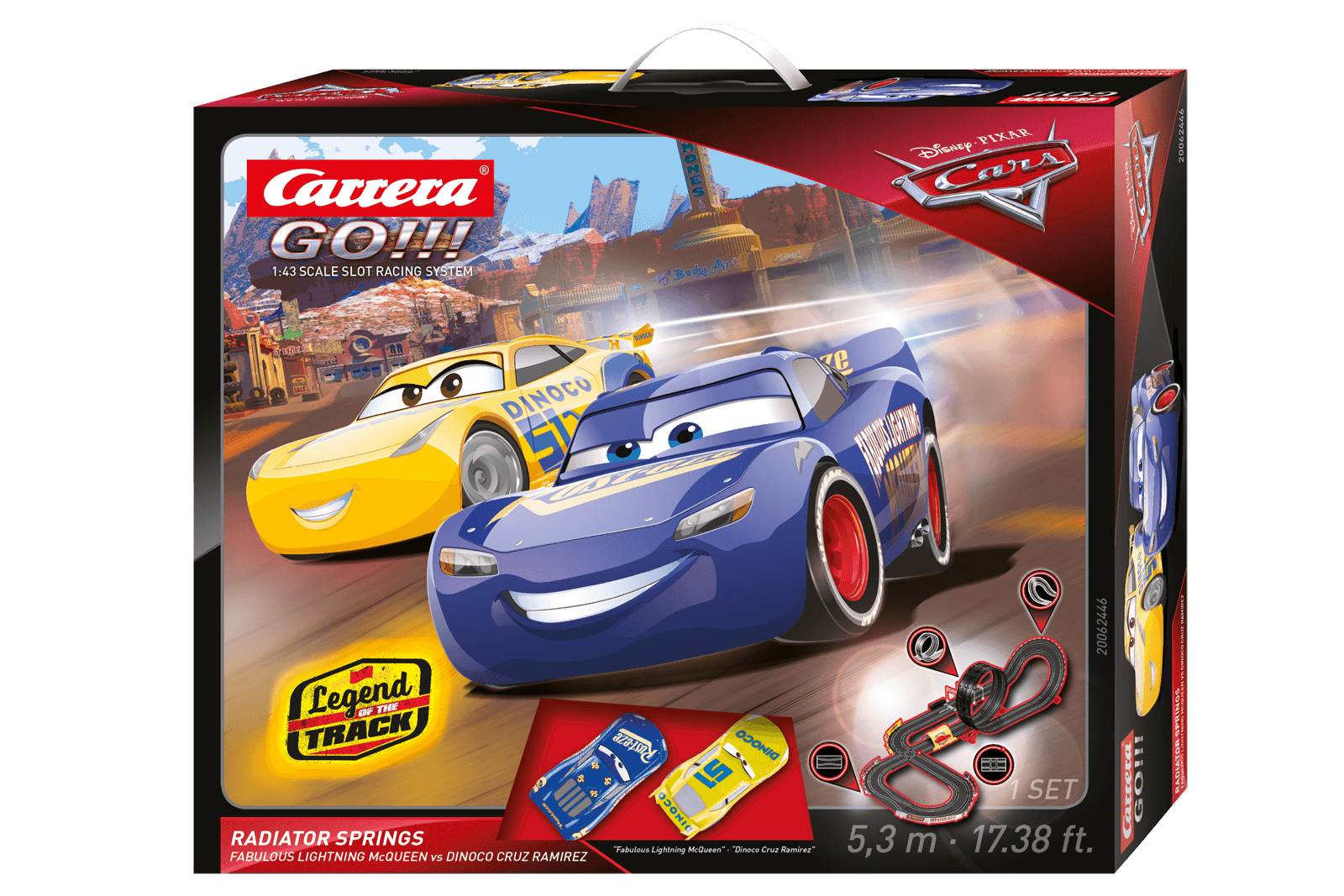 62446 Go!!! Disney·Pixar Cars - Radiator Springs, Carrera