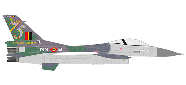 "580434 F-16A ""Belgian Air Force 350 Sqd Florennes 75 years (B)"", Herpa Wings"