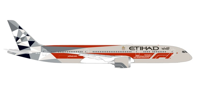 "533263 Boeing 787-9 D. ""Etihad Airways F1 Abu Dhabi Grand Prix"", Herpa Wings"