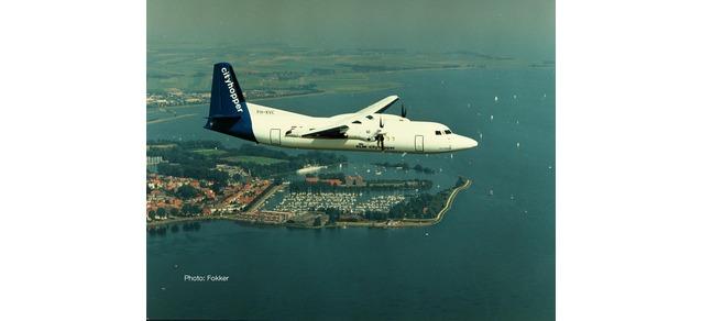 """559652 Fokker 50 """"KLM Cityhopper (NL)"""", Herpa Wings"""