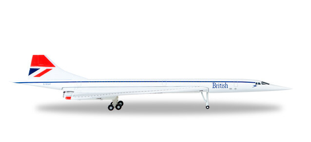 "527477-001 Aérospatiale-BAC Concorde ""British Airways (Negus colors)"", Herpa Wings"