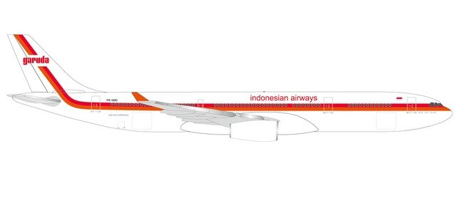 "533362 Airbus A330-300 ""Garuda Indonesia 70th Retro colors"", Herpa Wings"