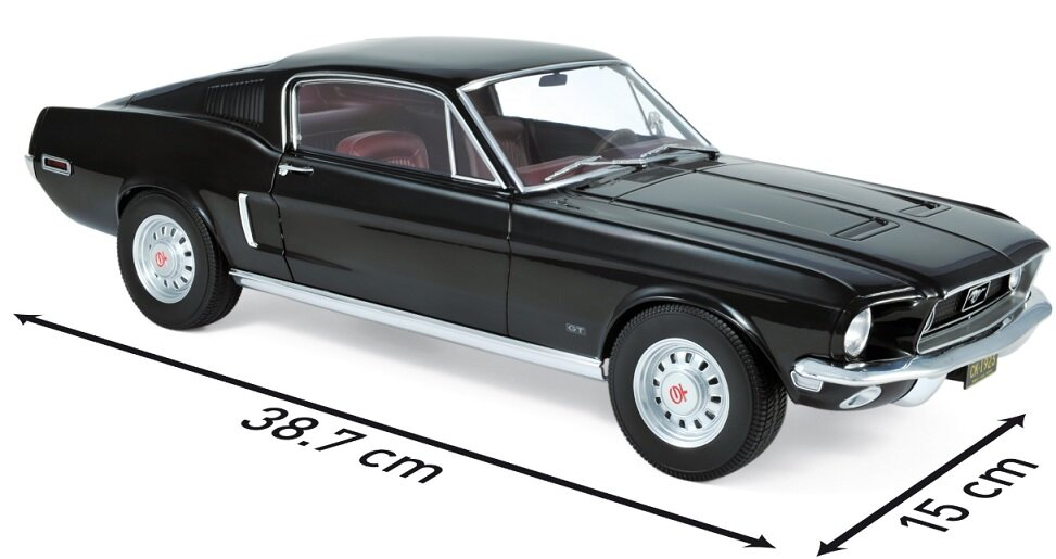 122700 Ford Mustang Fastback 1968, zwart, Norev