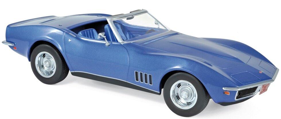 189035 Chevrolet Corvette Convertible 1969, blauw met., Norev