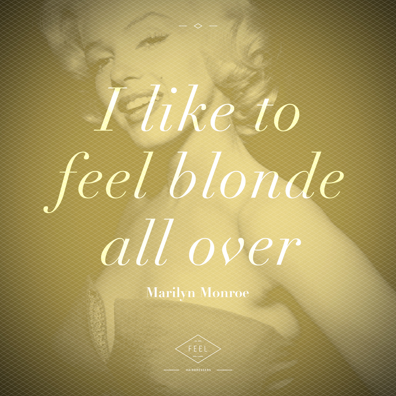 Yellow duotone - works well with the 'blonde' quote