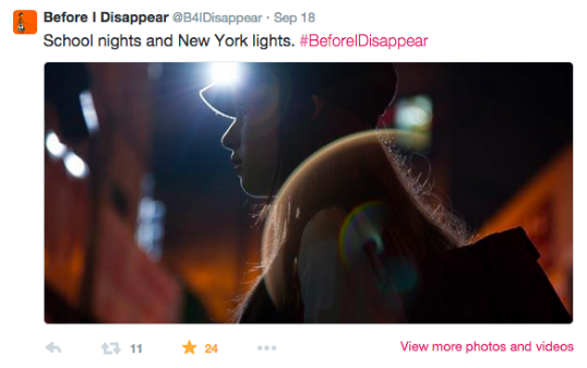 Fatima Ptacek in Before I Disappear - Twitter for movies case study