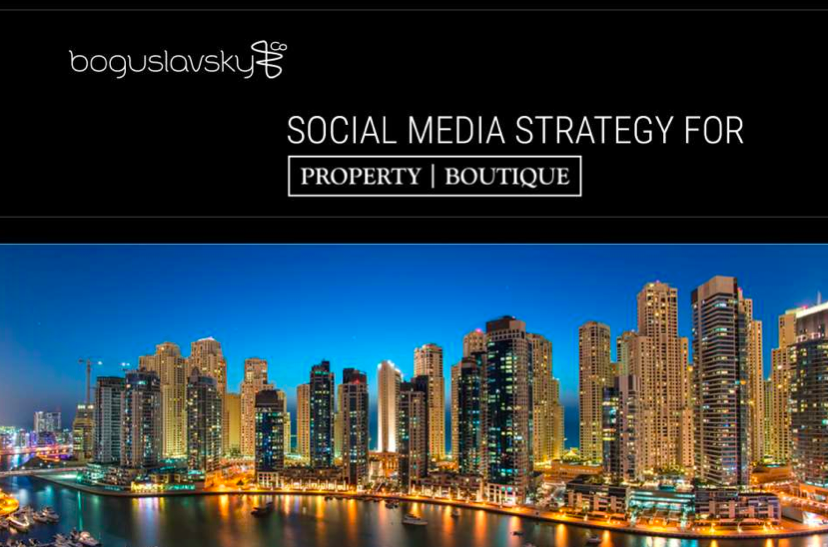 social media strategy for real estate agency