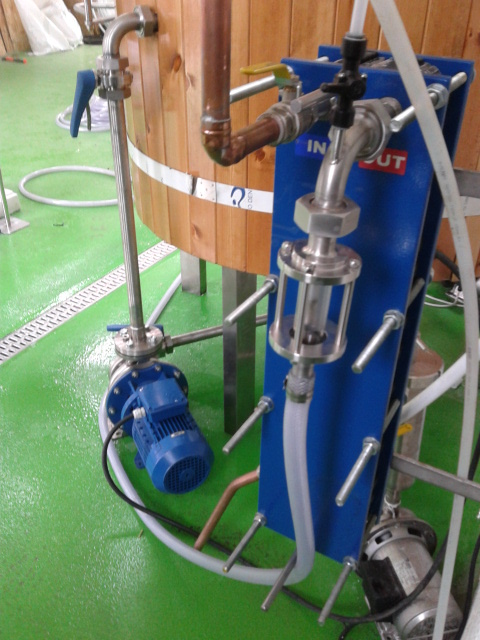 Post heat exchanger airation system