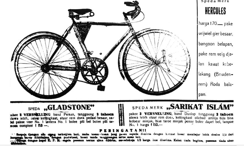 Saking terkenalnya organisasi massa Sarikat Islam waktu itu sampai dipakai sebagai merek sepeda, seperti yang terlihat pada iklan dalam koran Oetoesan Hindia terbitan 6 Agustus 1914.