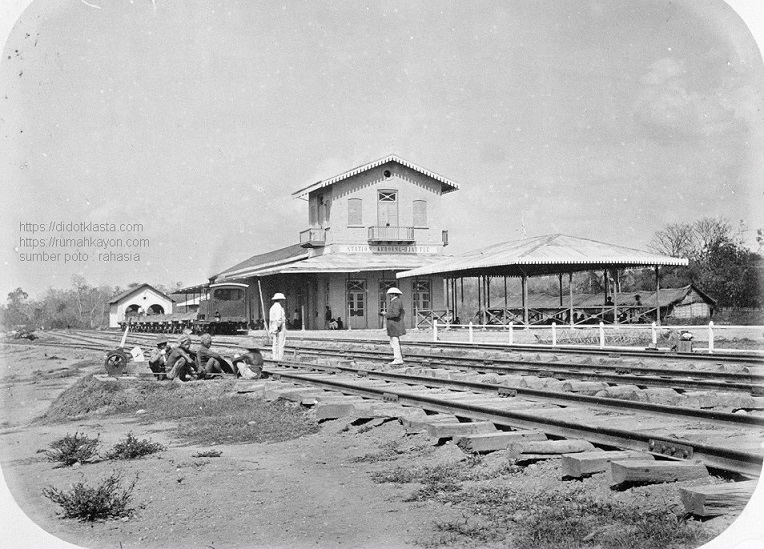Stasiun kereta api Kedungjati. 1870.