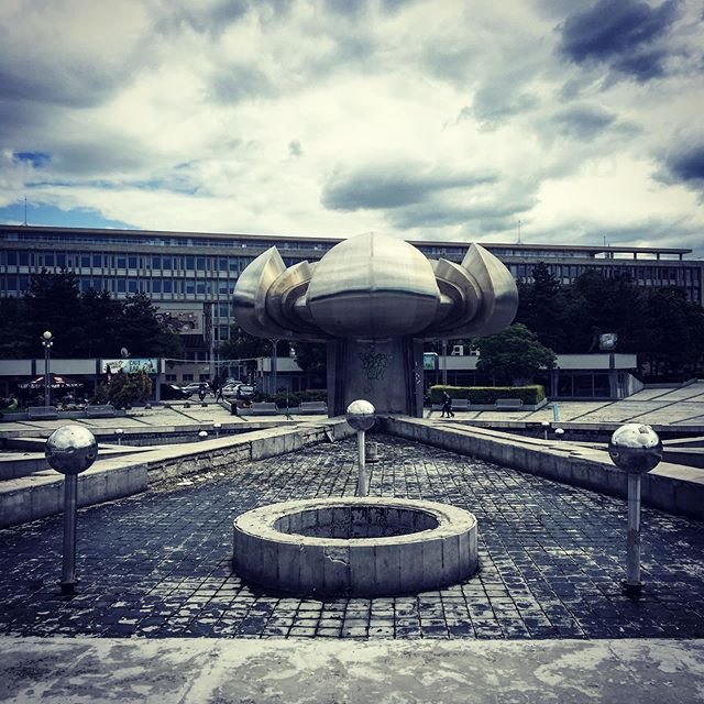 Dreamscape. The epic fountain of union Bratislava in all it's Brutalist glory #fountainofunion #brutalistarchitecture #brutalism