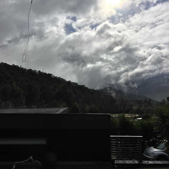 Saturday sun showers tumultuous ever changing view #sky #yarraranges #winter #rain