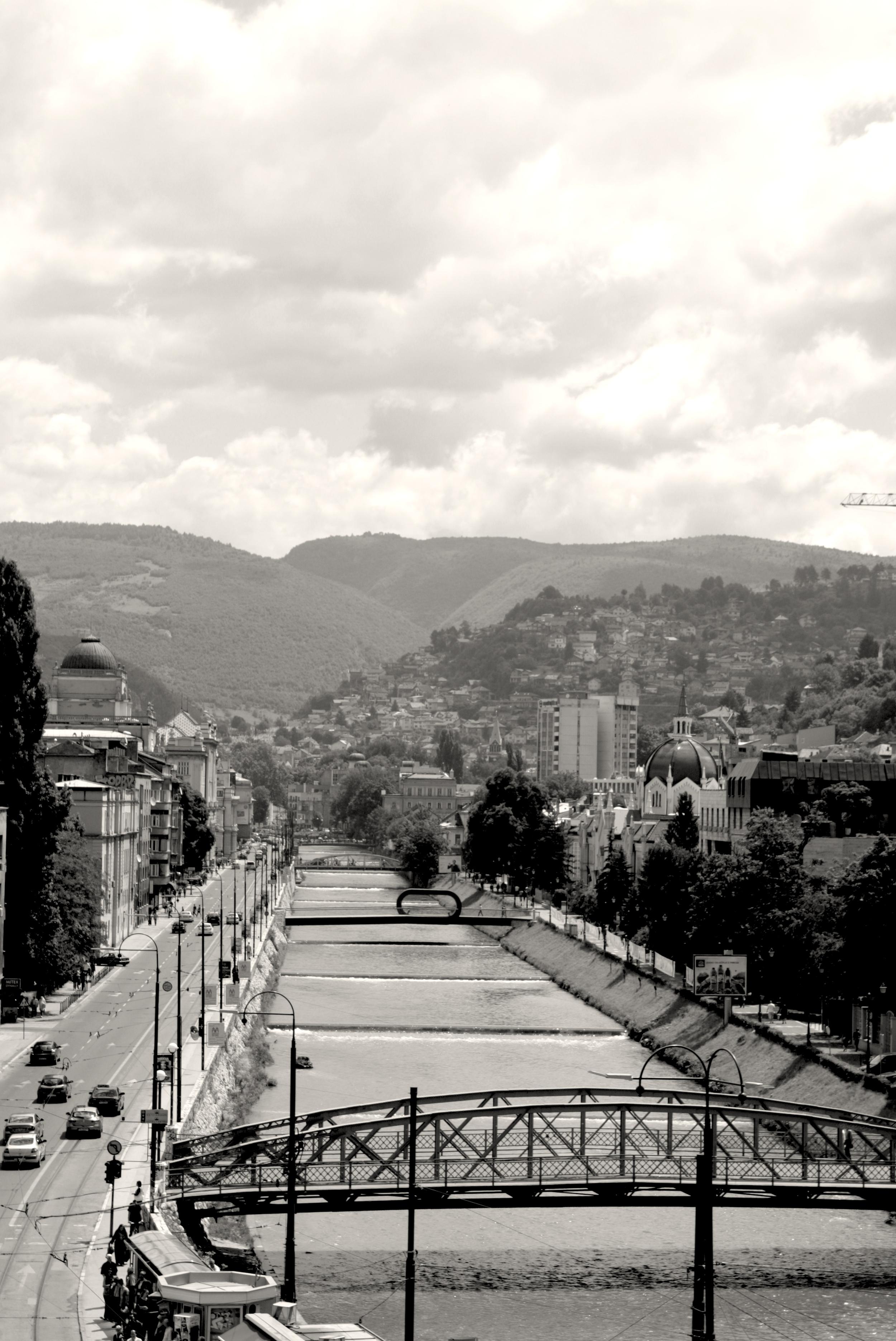Miljacka, a room with a view