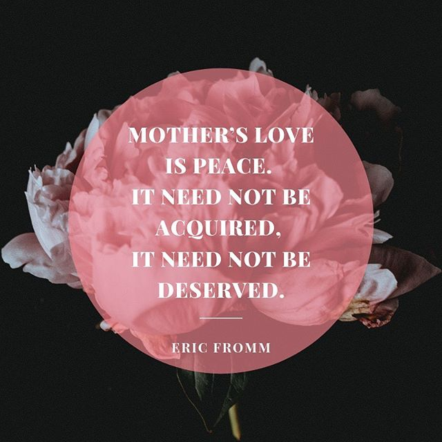 """🌷 """"Mother's Love is peace. It need not be aquired, it need not be deserved."""" ~ Eric Fromm  Today we celebrate the mothers and mother figures in our life. We're grateful to have so many in our #staccatobarre family. 💓 Thank you for sharing your strength, peace and love. 🙏"""