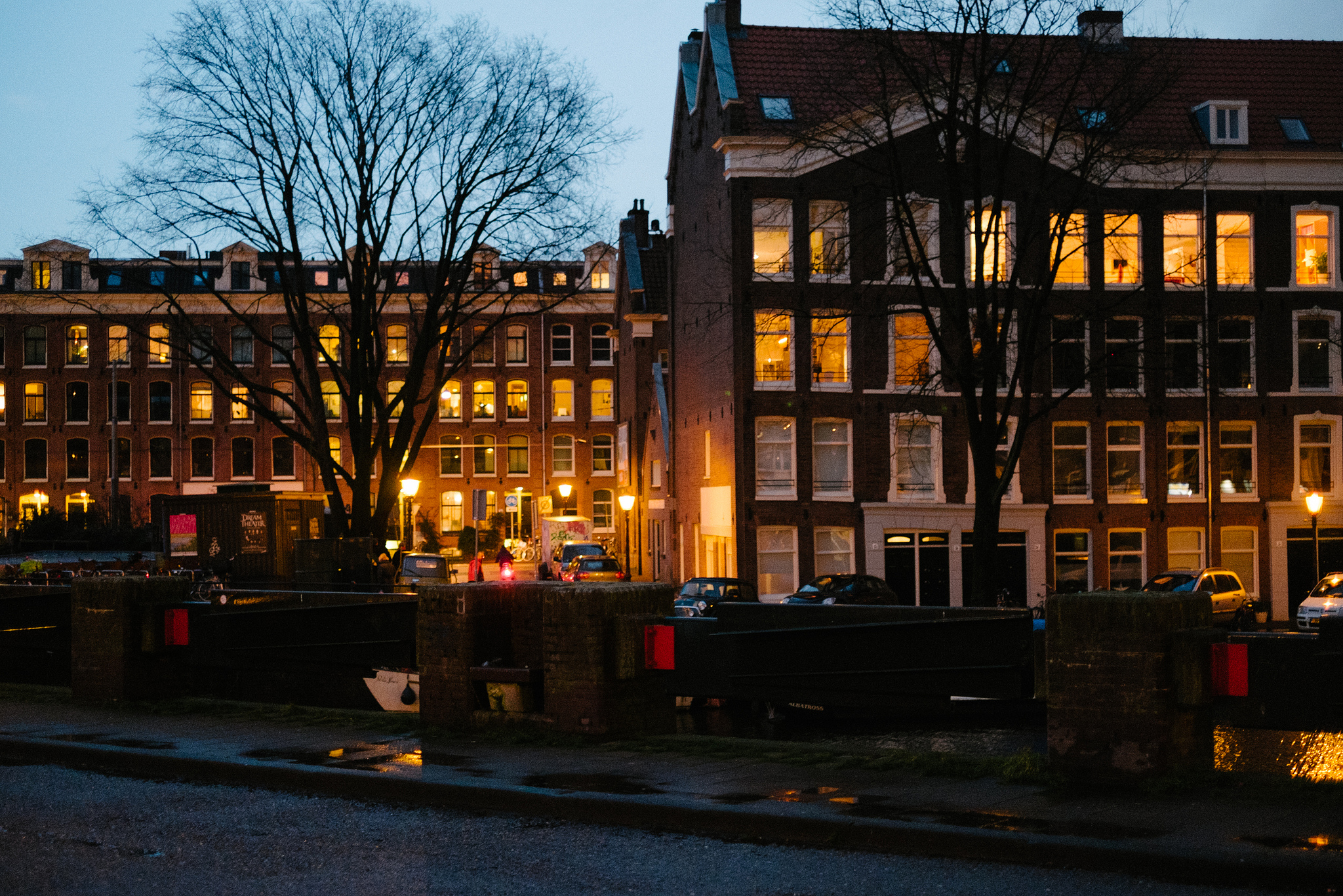 As we walked around and around on the damp December nights in Amsterdam, we saw light. Light installations lit up the canals, candles beckoned to us from fogged-up pub windows, and the glow from cozy apartments made us feel a little less chilly.