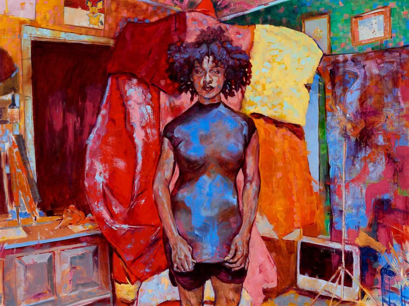 Kim's Room  2017, oil on canvas, 36 x 48in. SOLD