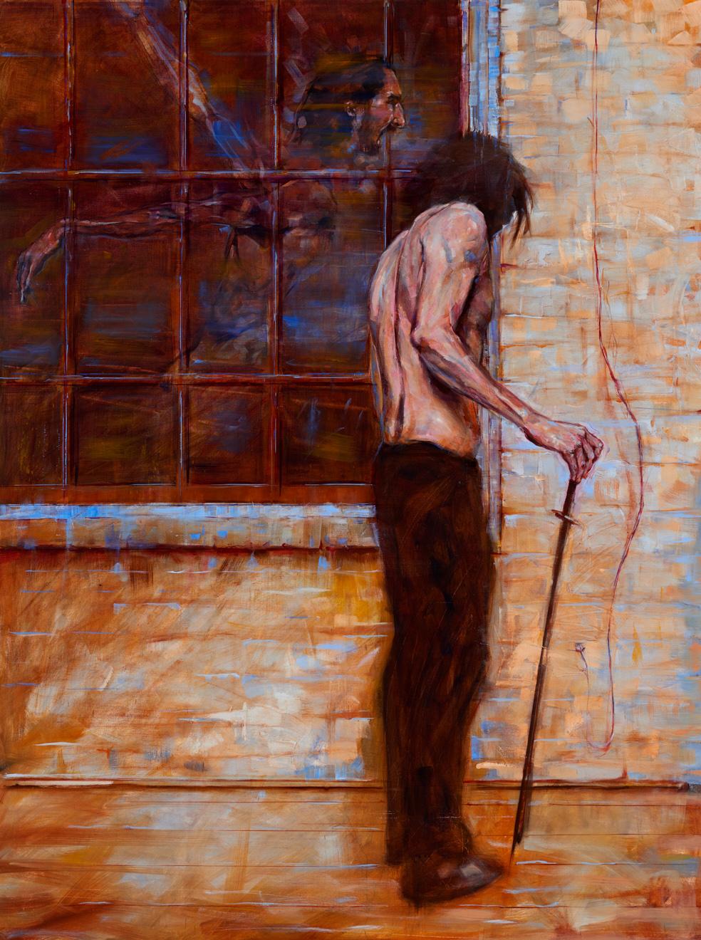 Triumph of Wisdom Over Death  2017, oil on canvas, 48 x 36in
