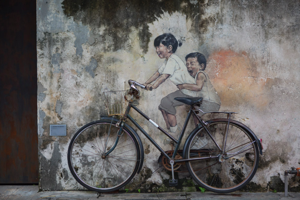 Zweiräder, Malaysias beliebteste Transportmittel. Egal, ob Stadt, Land oder Wand.