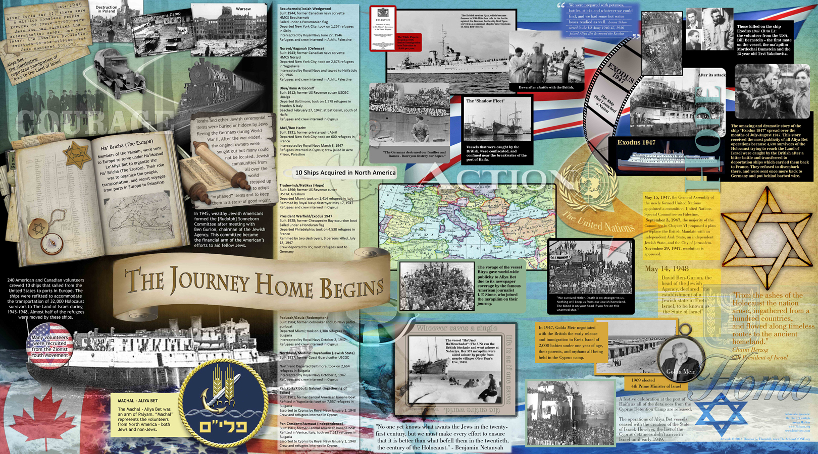 "The ""Journey Home"" mural is a project of   The Actions of ONE     a non-profit corporation dedicated to telling the stories of remarkable individuals who act on behalf of others without regard to race, reward, religion or their own safety. Digital Accents is very pleased to serve as a production partner in this effort."