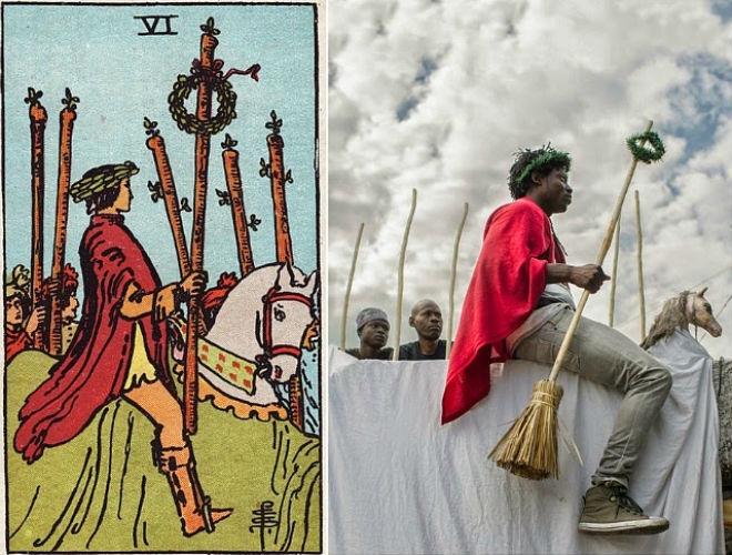 Haitian tarot by Atis Rezistans