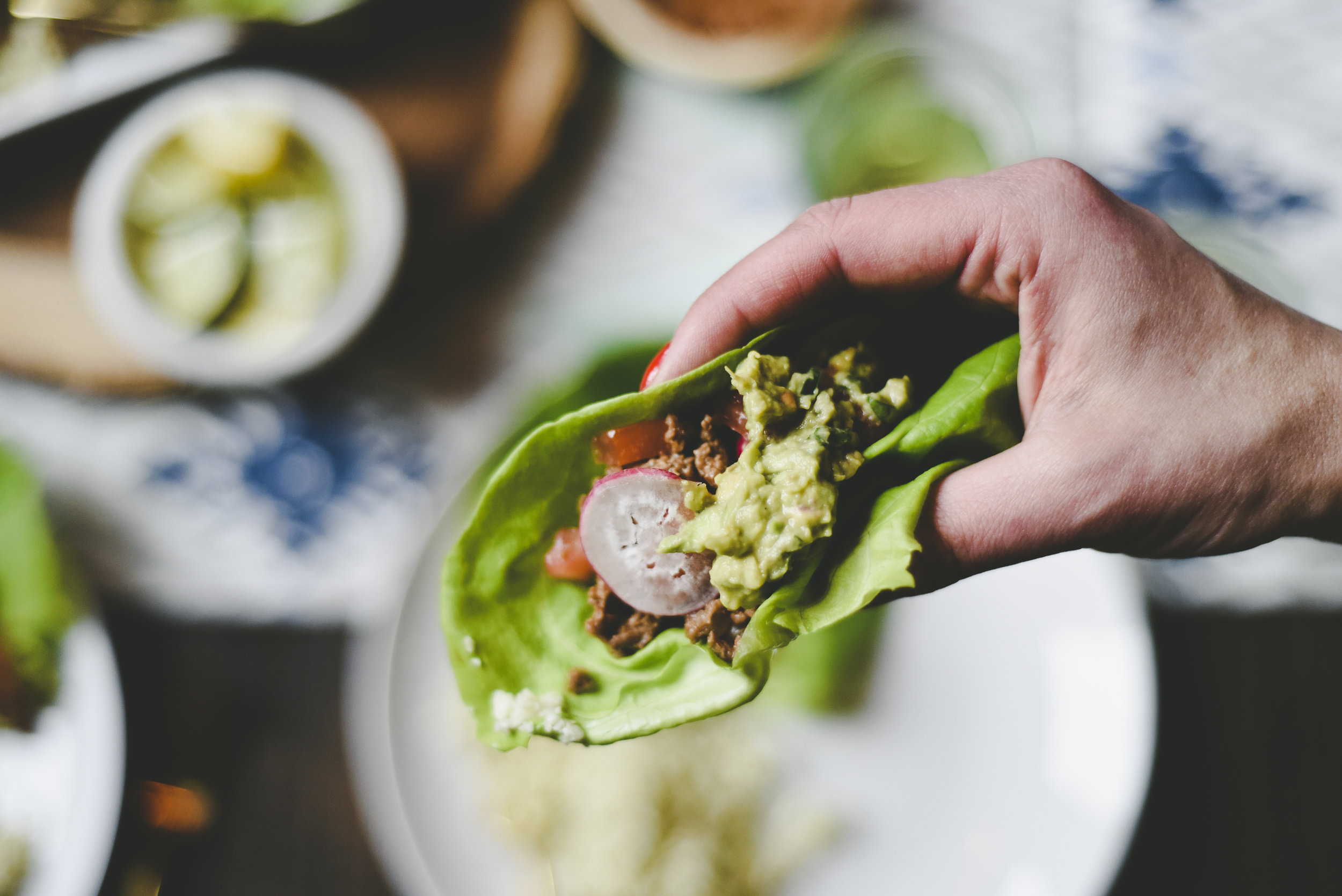 Once you have crushed the avocados throw on all ingredients and mix around...but not too much, chunky guac gets far better reviews then creamy guac...that is fact