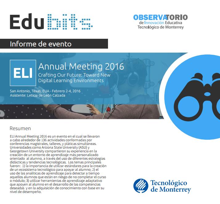 ELI ANNUAL MEETING 2016