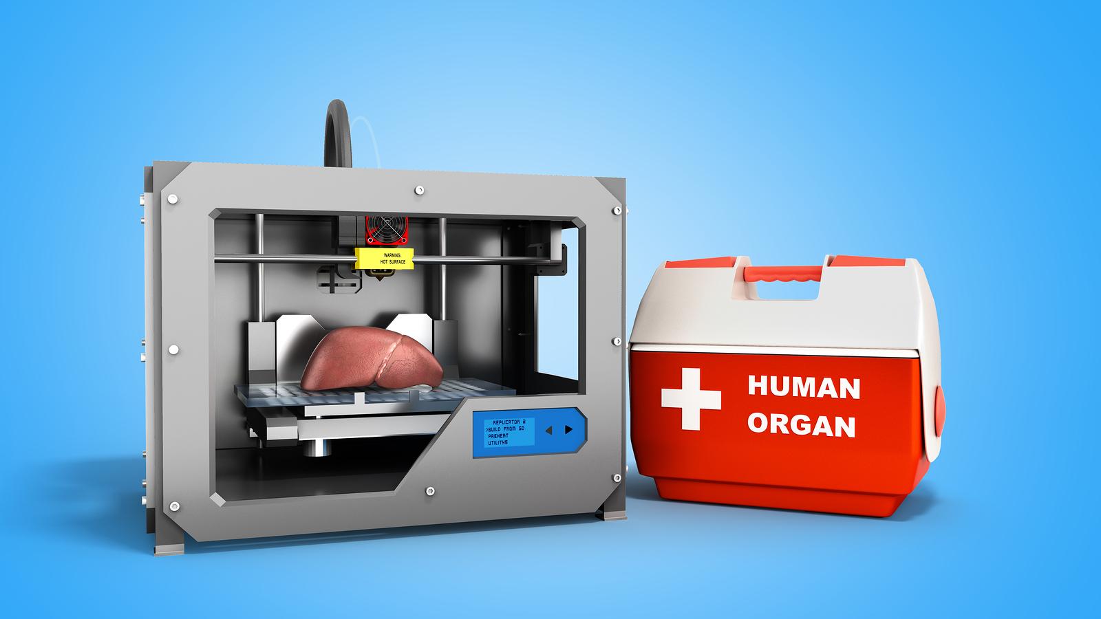 Las bioimpresoras 3D modelan objetos con fluidos. Investigadores experimentan con esta tecnología con el fin de algún día poder imprimir órganos humanos. - Foto: Bigstock