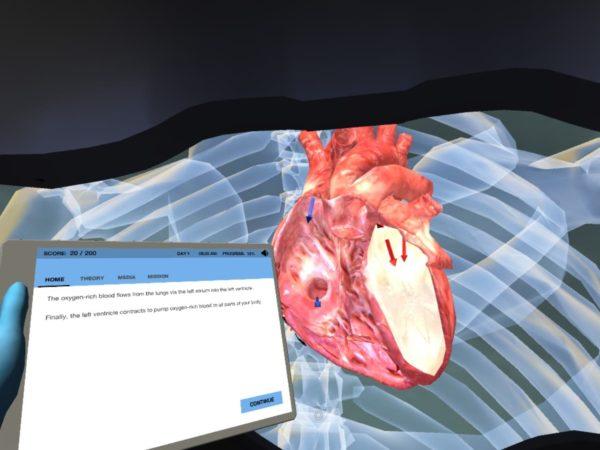 Captura de pantalla de laboratorio en RV.