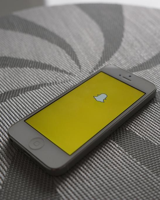 Iphone co imagen de snapchat