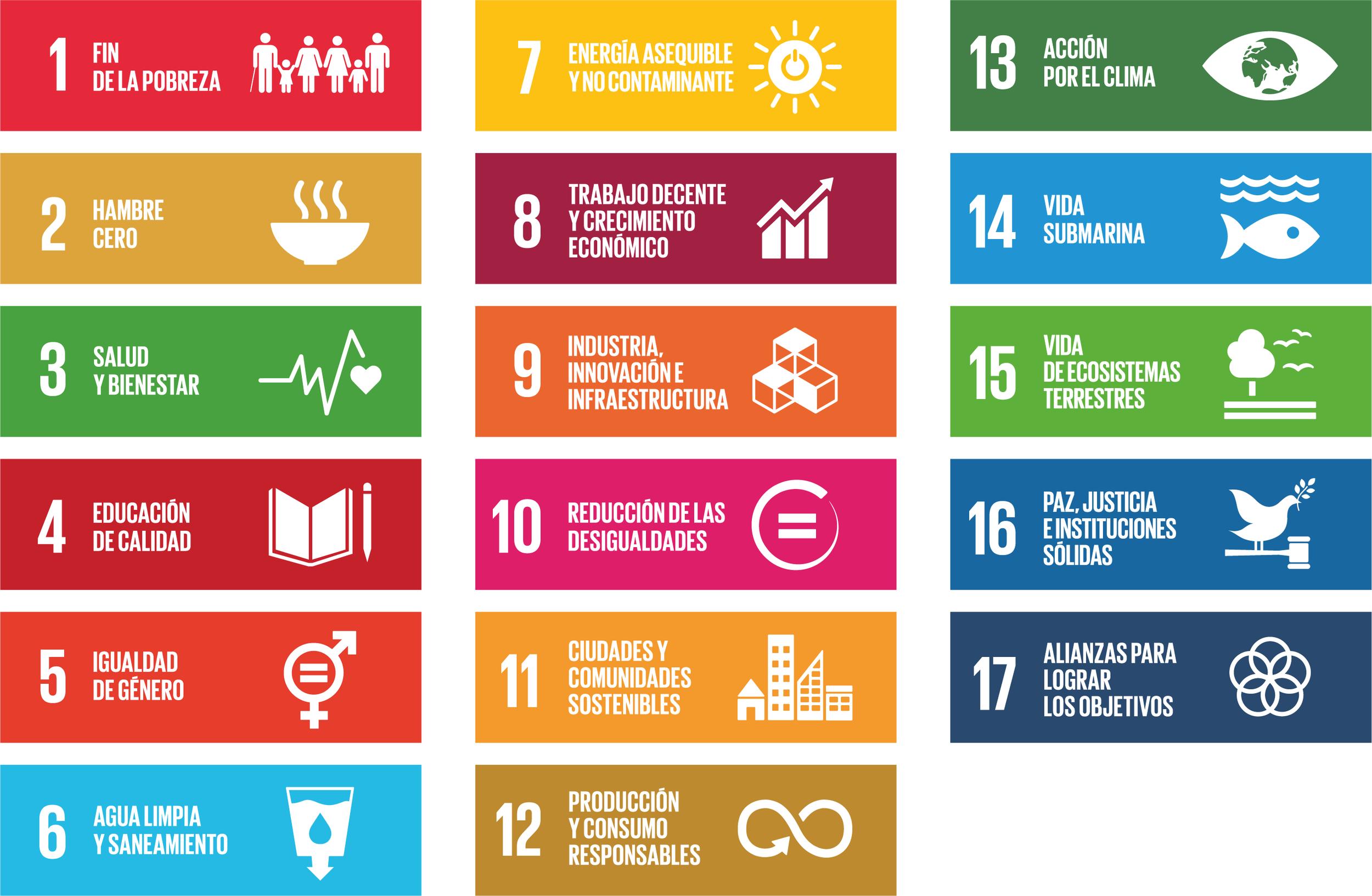 Figura 1:  Objetivos de Desarrollo Sostenible de la Agenda 2030