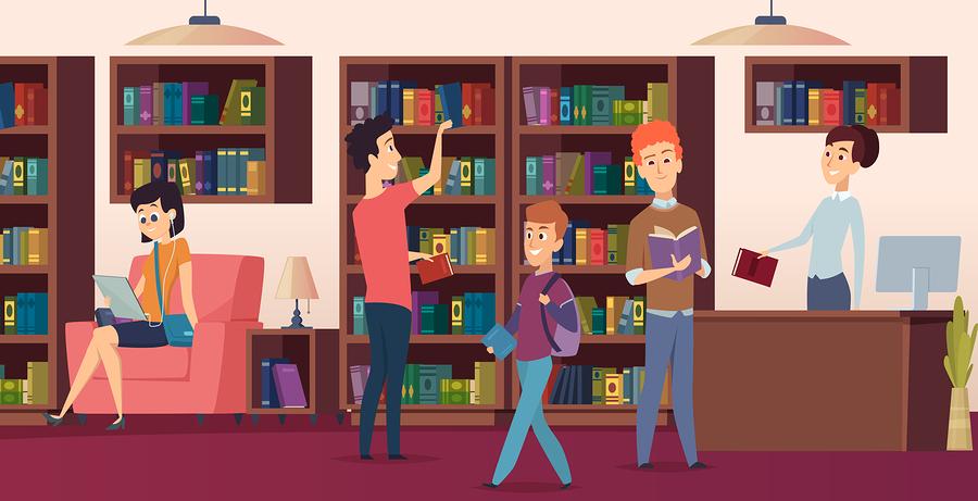 Para los estudiantes universitarios, la biblioteca es más que un lugar para estudiar, es un espacio comunitario dentro del campus. - Imagen: Bigstock