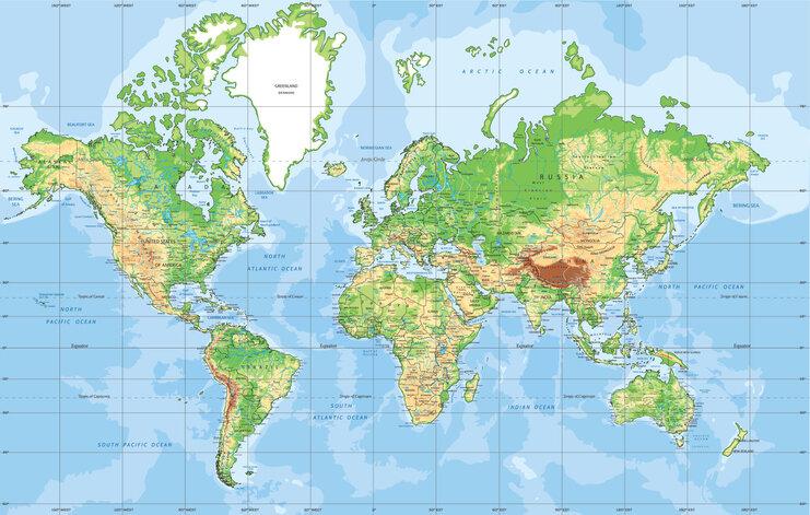 Mapa proyección de Mercator / BardoczPeter.