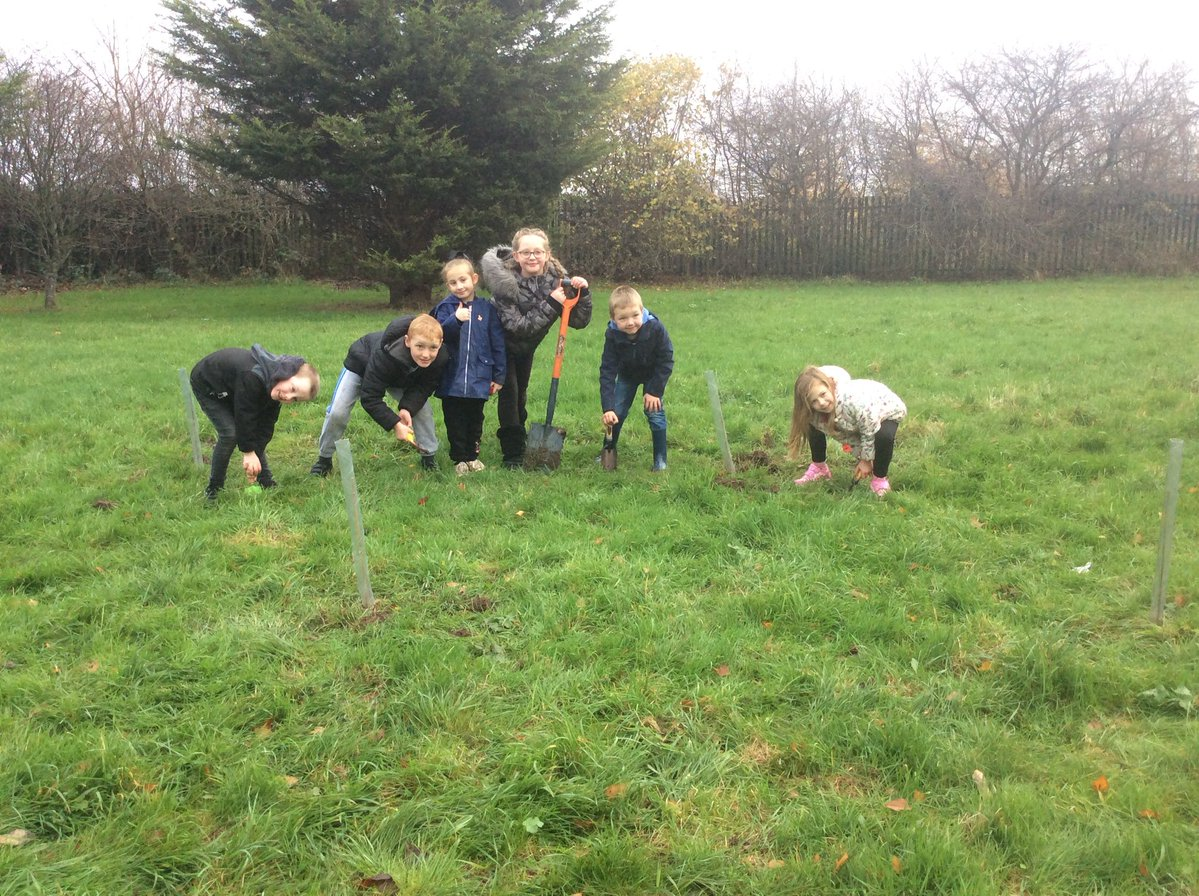 We had so much fun today planting trees in the church garden. This will make it look nicer in a few years. We got our picture taken by a photographer for a newspaper and worked hard as part of a team. (Lily Year 4)