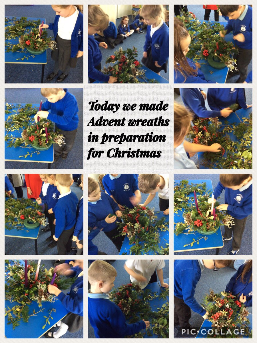 Each class makes an Advent Wreath together as part of our preparations. We hold a special service to mark the beginning of Advent.