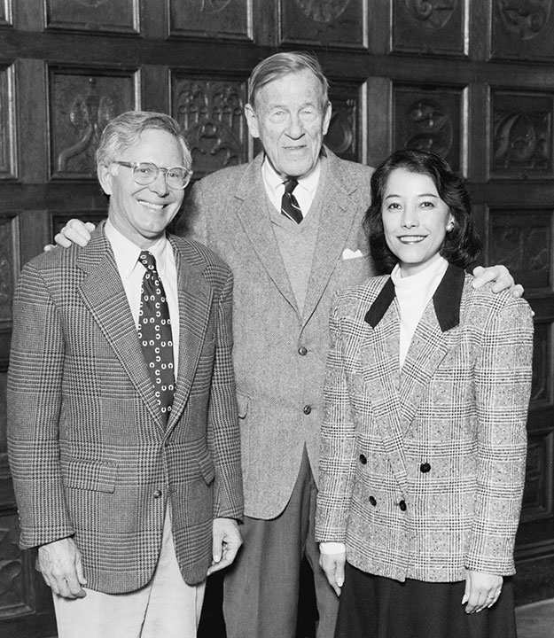 "<div class=""ch"">David F. Sheldon, Headmaster 1964–1990; Lawrence ""Monk"" Terry, Headmaster 1938-1964; Dr. Deirdre A. Ling, Head of School 1990–2003 (L–R)</div>"