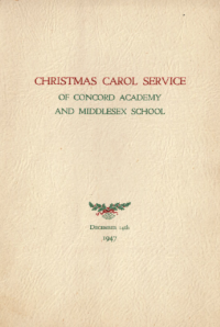 The 1947 Holiday Concert Program cover