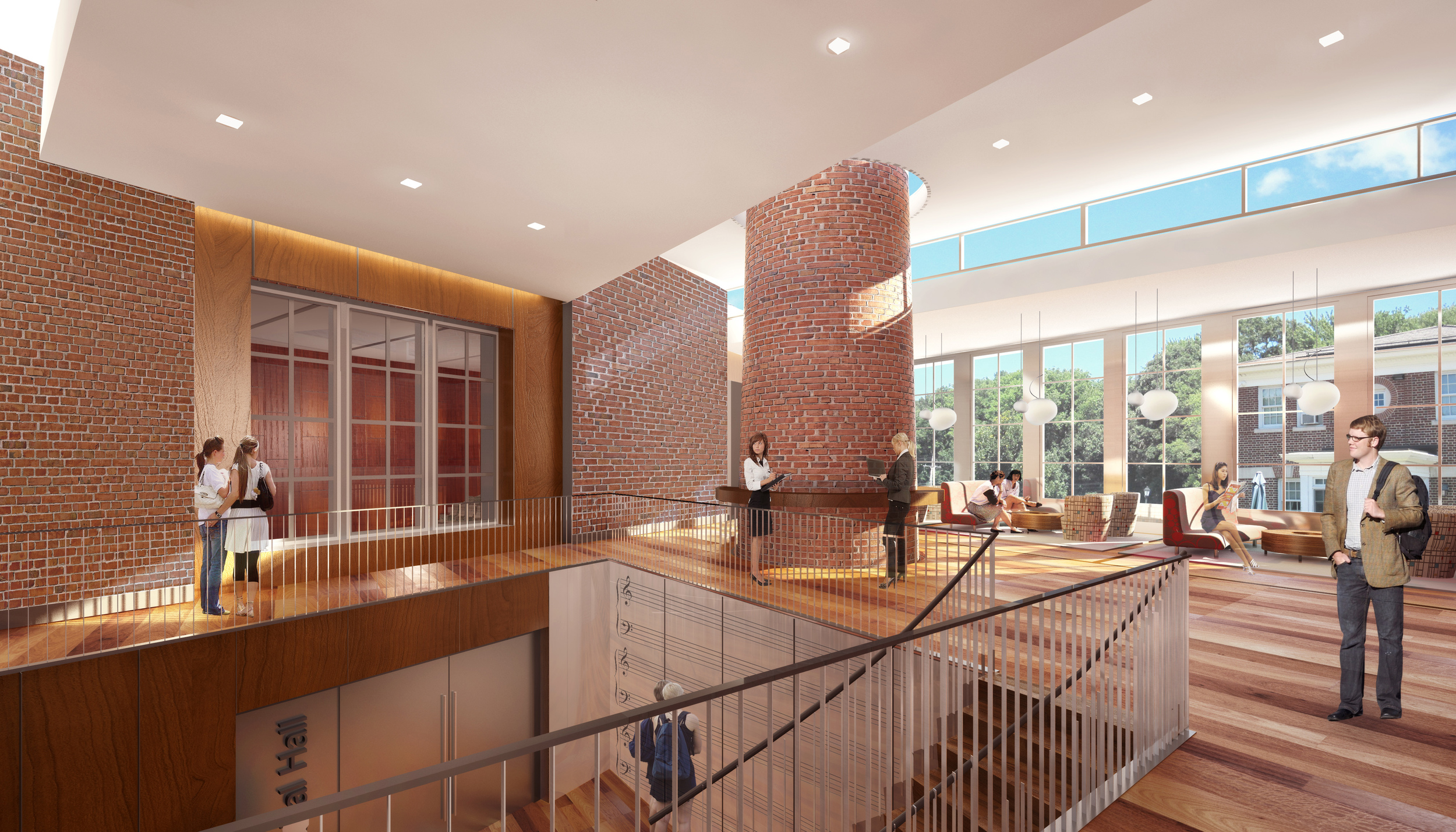 The Music and Campus Center will not only be a home for music, but will provide study and social spaces for students.